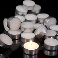 Tealights in aluminum cups (500pcs/cs)