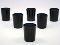 Black Cylinder Votive Holder (144 pcs)