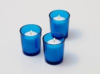 Blue Cylinder Votive Holder (72 pcs)