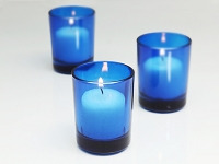 Blue Cylinder Votive Holder (12 pcs)