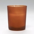Amber Frosted Cylinder Votive Candle ( 72pcs)