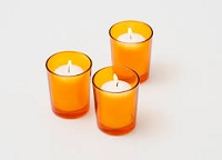 Orange Cylinder Votive Holder (144 pcs)