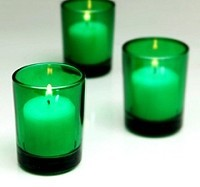 Green Cylinder Votive Holder (144 pcs)