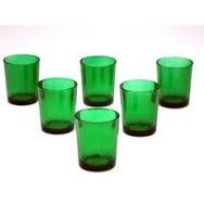 Green Cylinder Votive Holder (72 pcs)