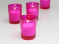 Pink Cylinder Votive Holder (72pcs)