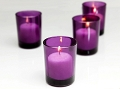 Purple Cylinder Votive Holder (72 pcs)