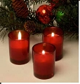 10hr Glass Filled Red Votives (75pcs)