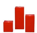 Red Square Pillar Candles (12pcs)