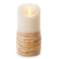 7-inch Luminara Reed-Wrapped Pillar