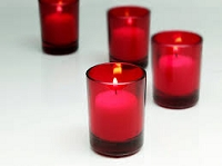 144pcs Red Votive Holder & Candles