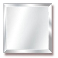 8Inch  Beveled  Edge Square Mirror (6pcs)