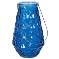 COBALT BLUE GLASS VASE W/SILVER HANDLE (4pcs)