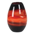 ROUND COLOR STREAKED ART GLASS VASE (1pc)