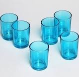 Aqua Cylinder Votive Holder (144 pcs)