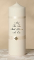 Diamond Ivory Pillar Candle with Verse