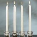 10inch  White Taper candles  144pcs/cs